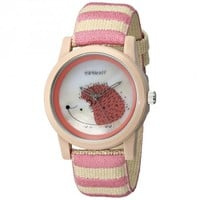 Sprout Pink & Tan Hedgehog Themed Dial Wrist Watch