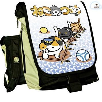 Anime Backpack School kawaii cute Neko Atsume COSPLAY Casual fashion for men and womenComputer Backpack Student Bag Backpack AT_60_4