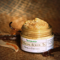 Vanilla Caramel Organic Facial Scrub - yummy delicious exfoliant for face