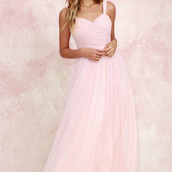 Sunday Kind of Love Blush Pink Tulle Gown
