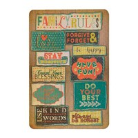 Family Rules Wood Plank Plaque