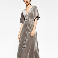 CROSSOVER VELVET DRESS - DRESSES-WOMAN | ZARA United States