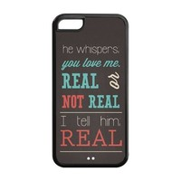 First Design Custom The Hunger Games Real Or Not Quotes Best Durable PC and Silicone Iphone 5C Case