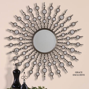 Kimani Antique Silver Mirror