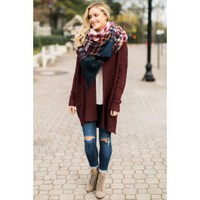 Day Too Soon Burgundy Cardigan