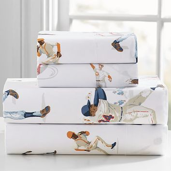 Organic Vintage Baseball Sheet Set