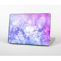 The Blue and Purple Translucent Glimmer Lights Skin Set for the Apple MacBook Air 13""