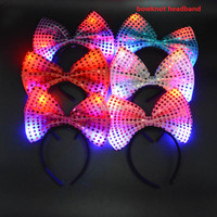 Light-Up headband garland Flashing Hair Accessories Hair Band LED Lighting Rave Event Party