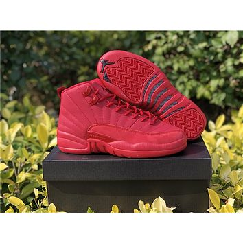 2019 Air Jordan 12 AJ12 Basketball Shoes Best BASKET Down PU Patent Leather Leather Mesh Sneaker