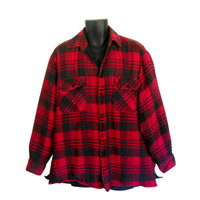 Red Flannel Shirt XL Flannel Shirt Buffalo Plaid Shirt Insulated Flannel 90s Grunge Flannel Shirt Men Flannel Shirt Plaid Flannel Shirt