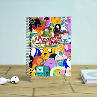 Adventure Time Collage Photo Notebook Auroid