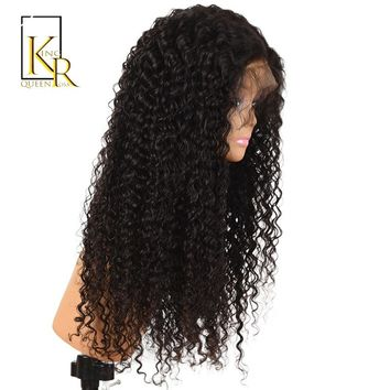 Curly Lace Front Human Hair Wigs For Women Remy Brazilian Lace Wig 150% Density Pre Plucked With Baby Hair King Rosa Queen