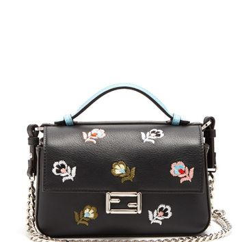 Micro Baguette embroidered leather cross-body bag | Fendi | MATCHESFASHION.COM US