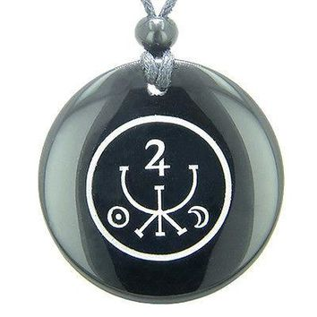 Universe Ancient Money Sigil Talisman Black Onyx Magic Gemstone Circle Spiritual