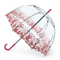 Fulton Birdcage Floral Border Bubble Umbrella - Raindrops Umbrellas & Rainwear Canada