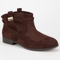 Celebrity Nyc Margot Womens Slouch Booties Brown  In Sizes