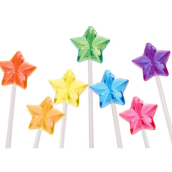 Twinkle Candy Star Lollipops - Assorted: 120-Piece Bag