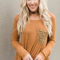 Tawny Crochet Thermal Top