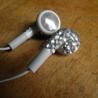 Custom Apple Rhinestone Headphones