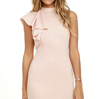 Au Revoir Blush Bodycon Dress