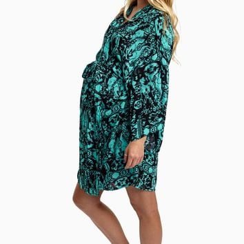 Jade-Black-Aztec-Maternity-Hospital-Robe