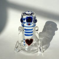 Glass R2D2 In love! Art Pipe