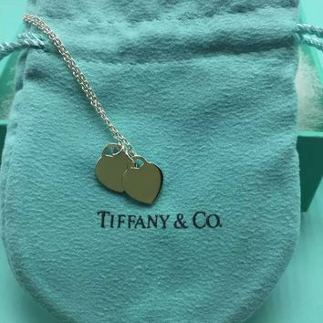 Tiffany & Co. Classic Double heart Silver Heart necklace