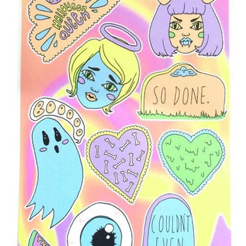 Spooky Babe Sticker Set