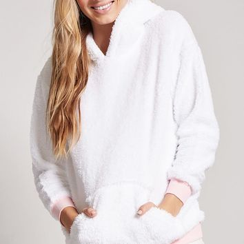 Fleece Unicorn Hoodie Nightdress