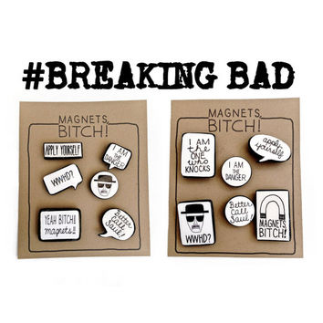 Breaking Bad Magnets by gnarlyink on Etsy