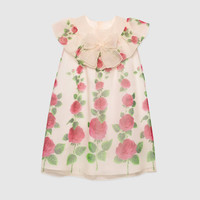 Gucci Children's Rose Garden print silk dress