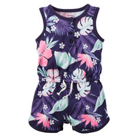 Printed Jersey Romper
