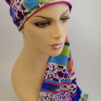 Wild Child Turban Set, Chemo Head Wrap Alopecia Scarf, Gypsy, Boho, Tribal