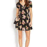 Flirty Florals Cutout Dress