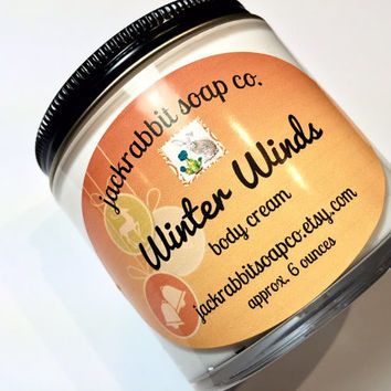 Winter Winds Body Cream | Pine Lotion | Cinnamon Lotion | Woods Lotion | Snow Lotion | Shea Lotion | Body Cream | Christmas Lotion