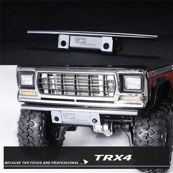1 Set Metal Front Bumper Guard for TRAXXAS TRX4 Ford Bronco RC Car Stainless Steel Front Bumper Guard Upgrade RC Car Parts