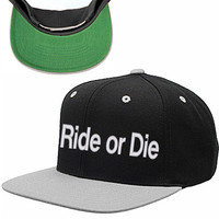 ride or die snapback hat