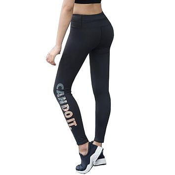 Women's 2017 Sports Leggings Fitness High Waist Elastic Quick Drying Compression Tights