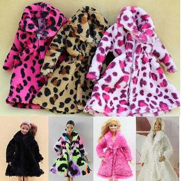 15 Type High Quality Fashion Handmade Clothes Dresses Grows Outfit Flannel coat for Barbie Doll dress for girls best gift