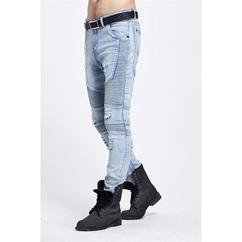 Men's Skinny Ripped Jeans