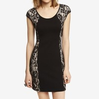 SIDE LACE PONTE KNIT SHEATH DRESS