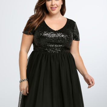 Sequin & Tulle Party Dress