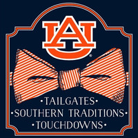 Southern Couture Auburn War Eagle Classic Preppy Bow Girlie Bright T Shirt