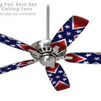 Ceiling Fan Skin Kit (fits most 42inch fans) - Confederate Rebel Flag - (Fan and fan blades NOT INC