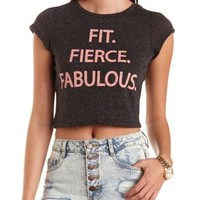 Fabulous Graphic Cropped Tee by Charlotte Russe