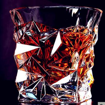 2016 New Multi-style Square Crystal Whiskey Glass Cup For the Home Bar Beer Water and Party Hotel Wedding Glasses Gift Drinkware