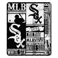 Chicago White Sox MLB Light Weight Fleece Blanket (Strength Series) (50inx60in)