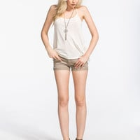 Rsq Malibu Cuff Womens Denim Shorts Khaki  In Sizes