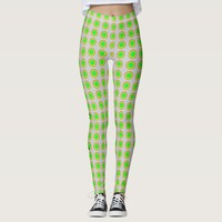 Funky cool apple green polka dot any color legging