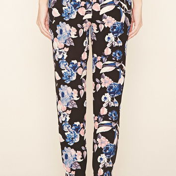 Floral Print Woven Joggers